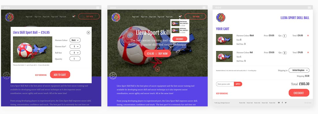 Llera Sport Skill Ball Checkout