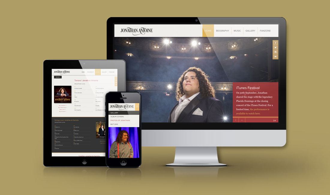 Jonathan Antoine Website